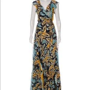 Diane Von Furstenberg Wrap Silk Formal Wrap Dress